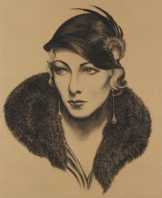 JARED JOSLIN - Woman in Fur Collar