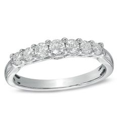 1/2 CT. T.W. Diamond Seven Stone Ring in 14K White Gold  http://zales.imageg.net/graphics/product_images/pZALE1-11351758t400.jpg