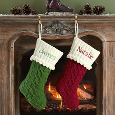 Personal Creations #Gifts  #Personalizedgifts Cable Knit Stocking | Personal Creations - Great Personalized Gifts via- http://www.AmericasMall.com/personalcreations-gifts