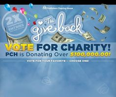 PICK your favorite charity at PCH Prize Central on Facebook