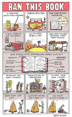 Whatever you do, don't read it! You might actually ENJOY it. #bannedbooks #bannedbooksweek