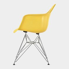 Lemon Yellow Eames® DFAR Molded Armchair, Charles and Ray Eames, 1950