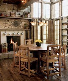 Dining Table Traditional Ranch House Design Colorado Decor Ideas