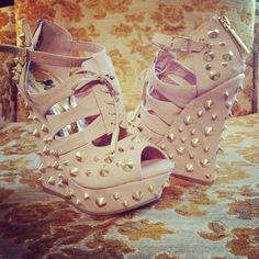 . studs, spikes, mexico city, colors, heel, stud wedg, wedges, dress shoes, new shoes