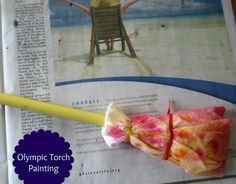 Olympics for Kids: Olympic Torch Painting