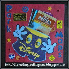 My Disney, Map Pocket, Layout (Cricut Inspired Layouts)