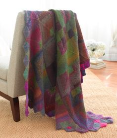 Mitered Squares Afghan by Lion Brand #Afghan #Lion_Brand...Michelle will love these colors