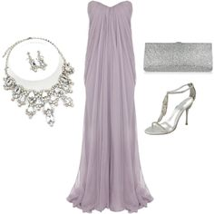 """""""Lavender Formal Evening Gown"""" by ggdesigns on Polyvore"""