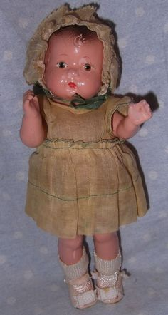 Effanbee Patsy Baby Tinyette straight leg Composition Doll All Original
