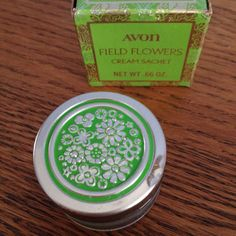 vintage Avon Field Flowers cream sachet container
