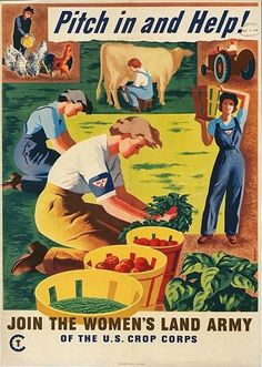 Pitch in and Help! #vintage #WW2 #poster #war_effort #1940s