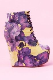 Jeffrey Campbell Damsel in Yellow Purple Floral