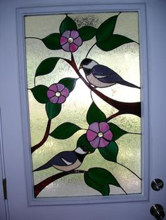 Chickadee Panel - Delphi Stained Glass stainglass, stain glass, stained glass