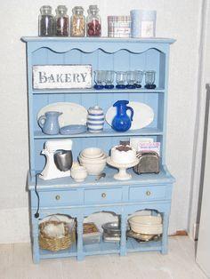 Miniature Dollhouse Kitchen Cabinet