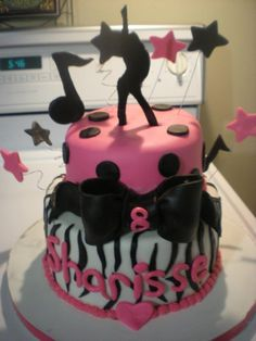 music+themed+cakes | music/dancing themed cake — Children's Birthday Cakes