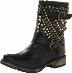 Steve Madden Women's Marcoo Bootie Now for 99.99. Leather. Manmade sole. Shaft measures approximately 7.75 from arch. Heel measures approximately 1.25. Platform measures approximately 0.5. Boot opening measures approximately 11.75 around. leather. solid. manmade-sole. closed-toe. ornamented