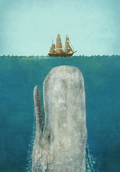 The Whale  Stretched Canvas
