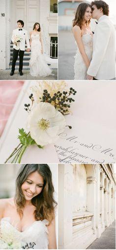 Soft cream wedding inspiration.