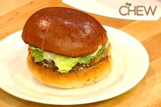 Carla Hall's Burger #TheChew