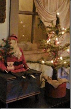 father christmas, christmas holidays, primitive christmas, christma tree, christma decor, christma prim, christma magic, primit christma, christmas trees