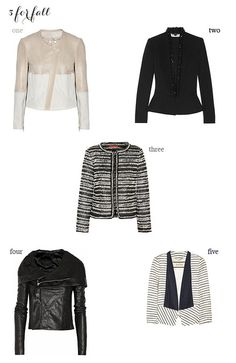 Five Jackets for Fall