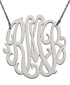 Large Monogram Necklace