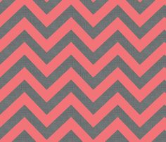 chevrons_coral fabric by holli_zollinger on Spoonflower - custom fabric  Fabric ideas for car seat cover