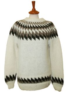 Icelandic Álafoss Wool Sweater * Hand knitted in Iceland * Icelandic Design * Icelandic Wool * Made in Iceland by Icelandic women