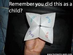 ChildHood Memories... I still do these :P