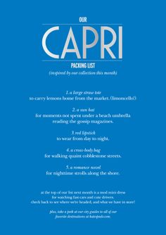 #travelcolorfully packing for capri? here's our tips!