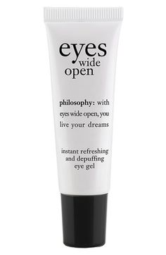 philosophy 'eyes wide open' instant refreshing and depuffing eye gel | Nordstrom - StyleSays