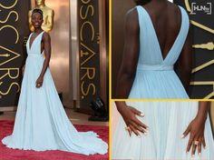 Lupita's Nairobi blue Prada Oscar 2014 dress.