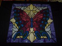 glass butterfli, glasses, butterflies, quilts, butterfli quilt, stain glass, quilt idea, stained glass