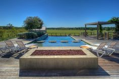 A luxury pool smack right in the middle of the country. An in-ground pool and cool fire pit--perfect for summer backyard entertaining. Huntsville, TX Coldwell Banker United, Realtors