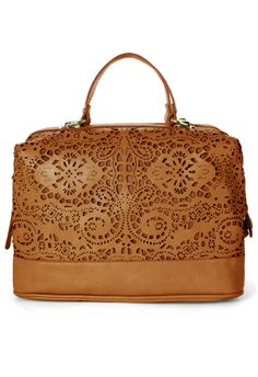 Cut Out Bag in Camel