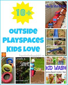 10+  outside playspaces kids love by FSPDT