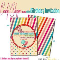 Candy Theme Invite
