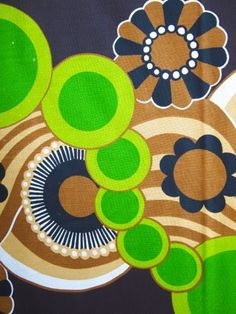 1970s cotton fabric