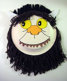 where the wild things are paper plate mask wild thing, craft supplies, book characters, maurice sendak, mask, last minute, paper plate, kid, construction paper