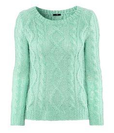 sweater in mint green