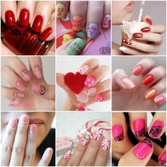 "nail collage. No ""how-to's"" but cute pic inspirations."