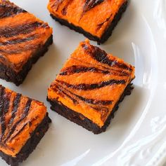 Scream Cheese Brownies...Halloween orange and black