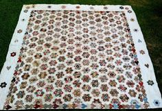 1820 Antique English Pieced Coverlet Quilt Early Chintz 19th Century Spectacular | eBay