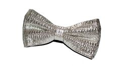 Silver bow tie. $23.00, via Etsy.