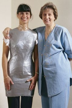 Duct tape dress forms