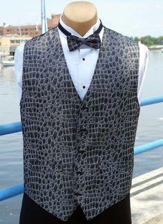 Alligator Print Vest for Men