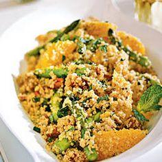 Quinoa Salad with Asparagus, Dates, and Orange