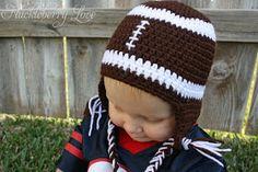 Crochet Football Hat w/ Earflaps {Free Pattern}