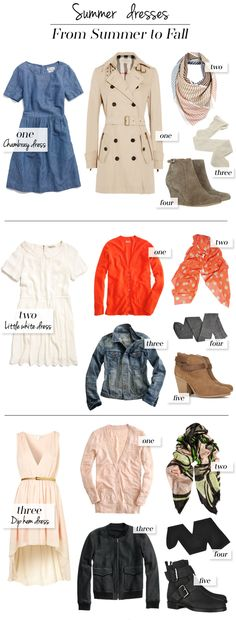 The Vault Files: Blog Series: 1x3 ways - Dresses from Summer to Fall