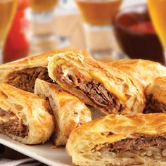Philly Cheesesteak Rolls. These were delicious and easy. Great quick weeknight dinner. Maybe should add fresh peppers or tomato to it.